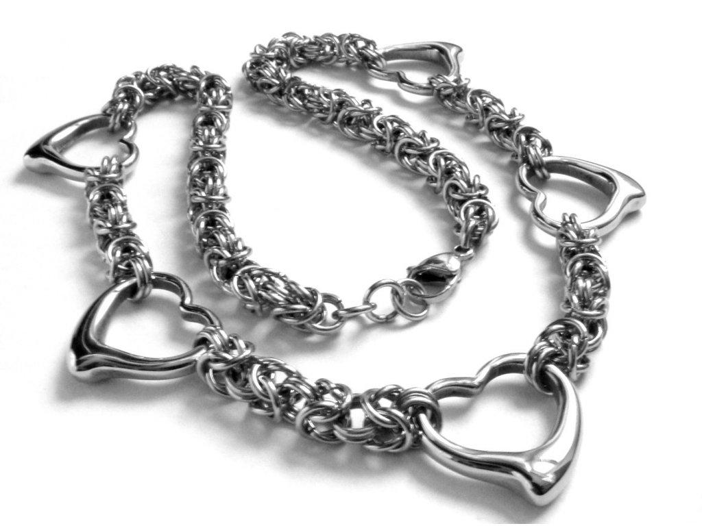 řetízek, náhrdelník - chirurgická ocel - dámský - 141032