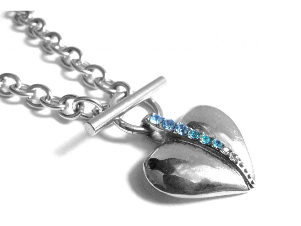 náhrdelník - chirurgická ocel - srdce - dámský - 140220