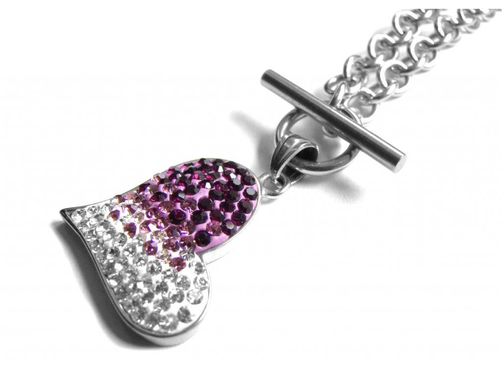 náhrdelník - chirurgická ocel - srdce - dámský - 150904