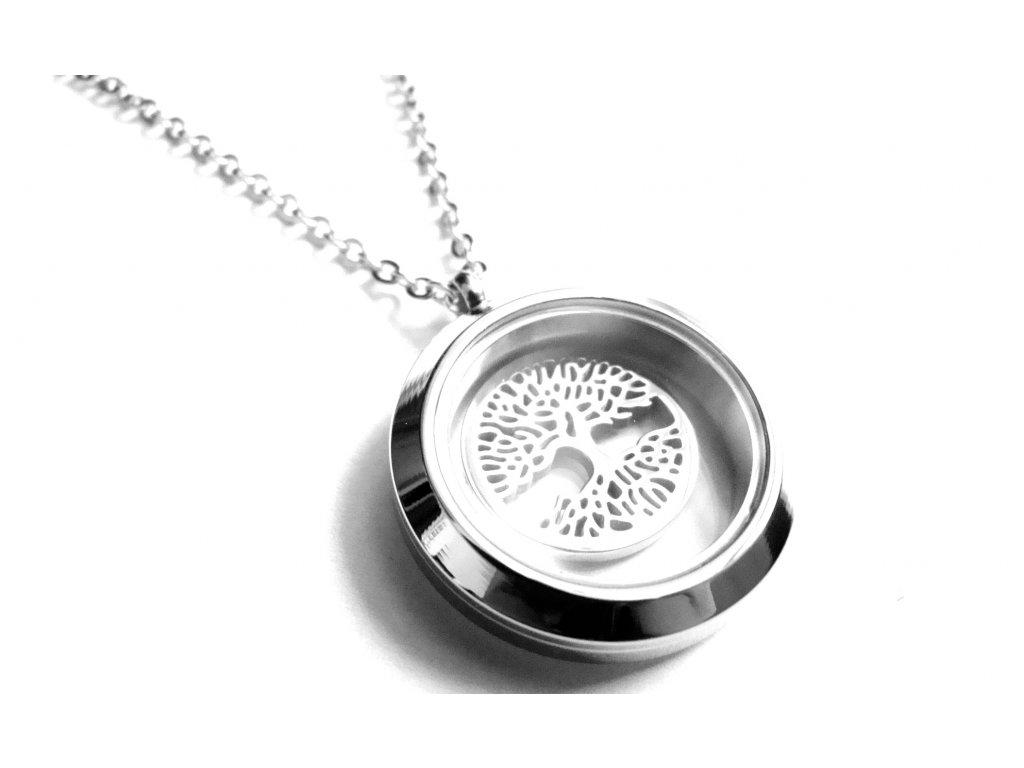 řetízek, přívěsek - chirurgická ocel - strom života - 150408