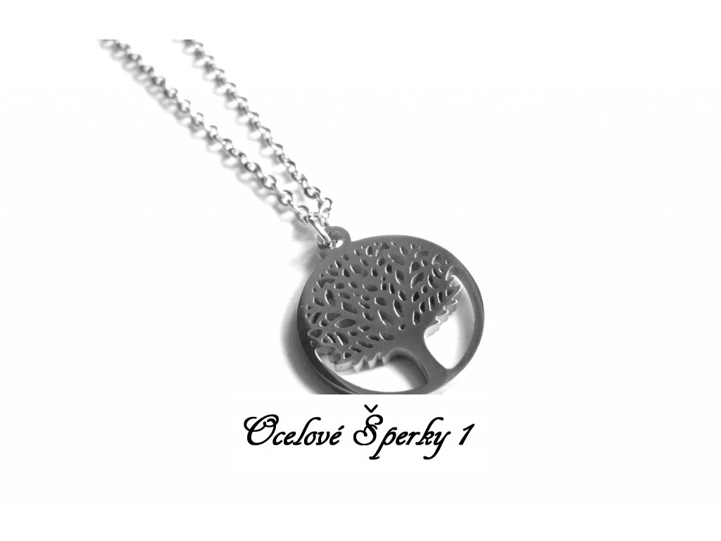 řetízek, náhrdelník - strom života - chirurgická ocel - 180302