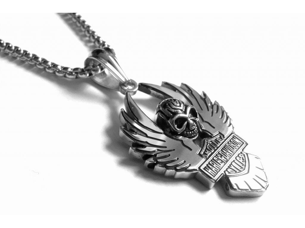 řetízek, náhrdelník - chirurgická ocel - motorkářský - 171030