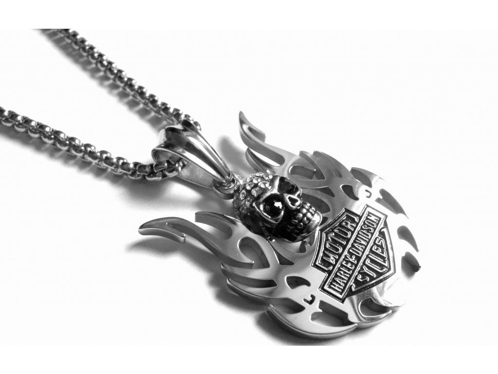 řetízek, náhrdelník - chirurgická ocel - motorkářský - 171014