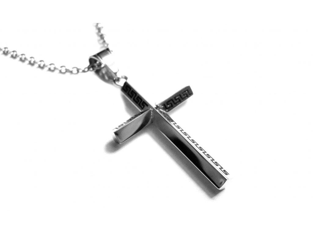 řetízek - chirurgická ocel - kříž - 171042