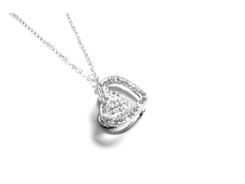 řetízek, náhrdelník - chirurgická ocel - srdce - 171021