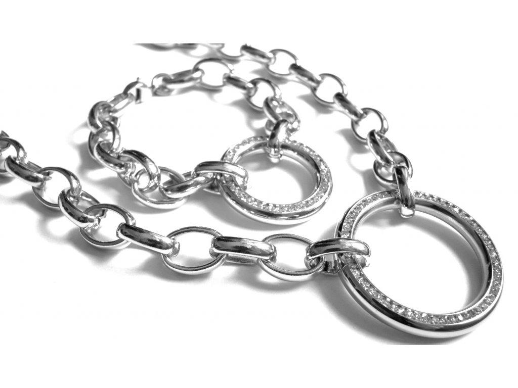 souprava - náhrdelník a náramek - chirurgická ocel - 180127
