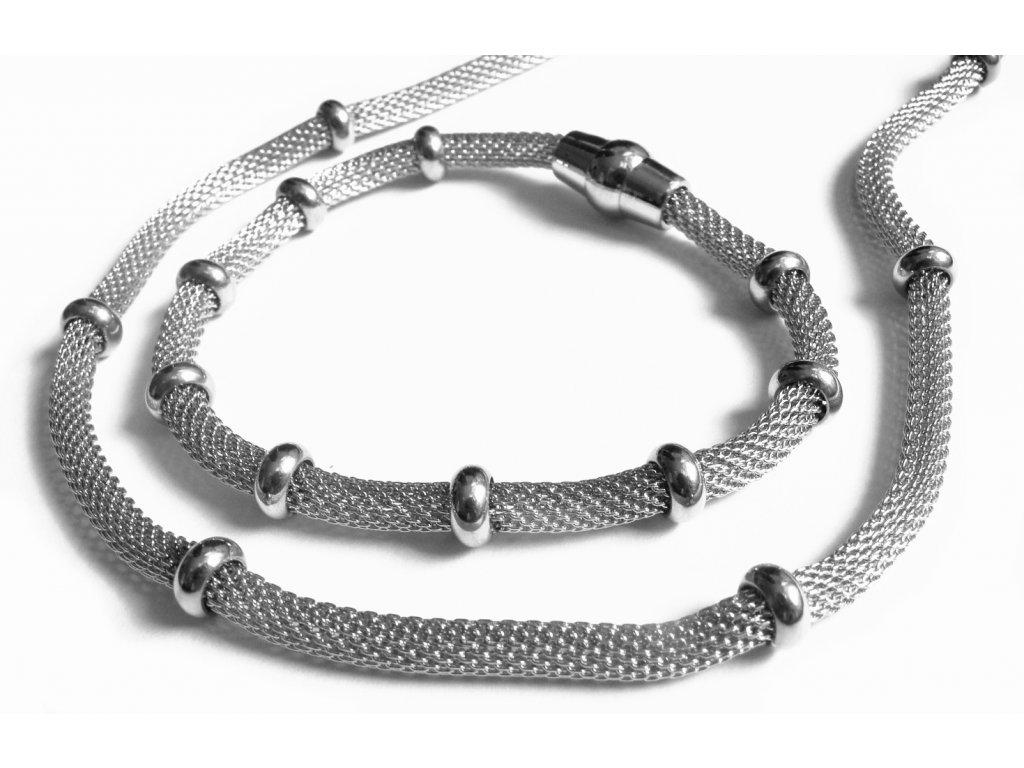 souprava - náhrdelník a náramek - chirurgická ocel - dámský - 150304