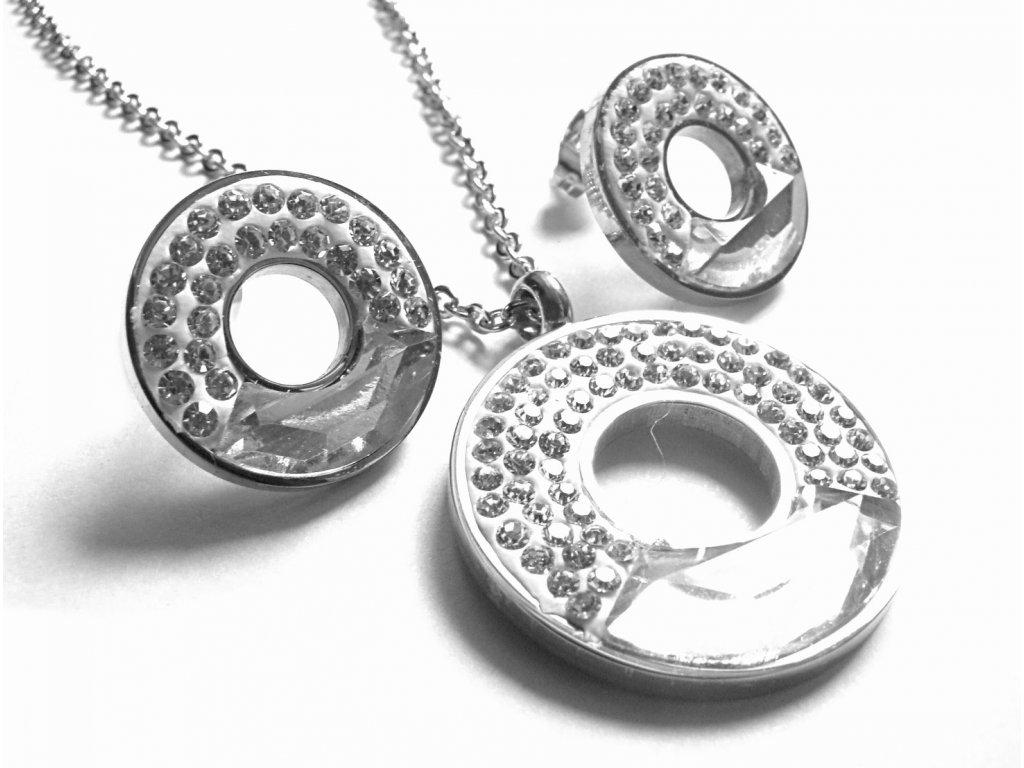 souprava - řetízek (náhrdelník) a náušnice - chirurgická ocel - 160205