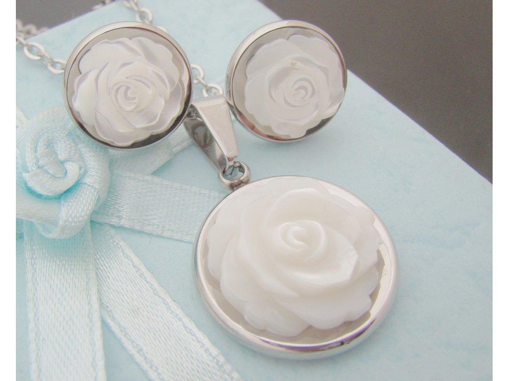 náhrdelník a náušnice - souprava - chirurgická ocel - 130194