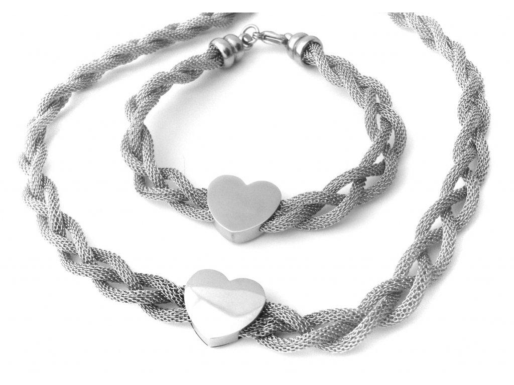 souprava - náhrdelník a náramek - chirurgická ocel - 090317