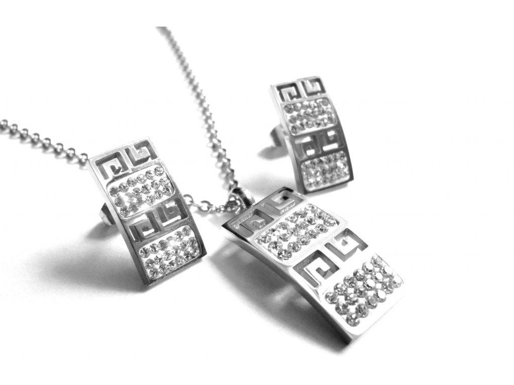 souprava - náhrdelník a náušnice - chirurgická ocel - 151111