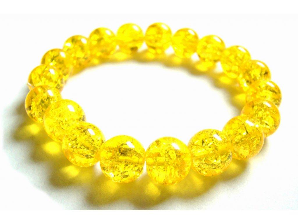 náramek - žlutý - bižuterie - 111004