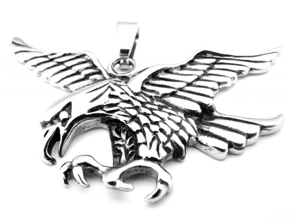 přívěsek - chirurgická ocel - orel - 130146
