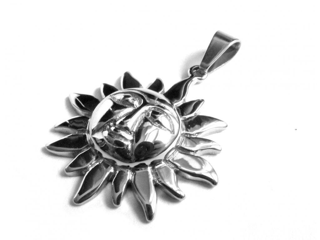 přívěsek - chirurgická ocel - slunce - 141105