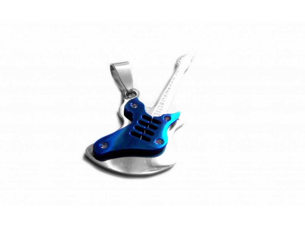 přívěsek - chirurgická ocel - kytara - 090266