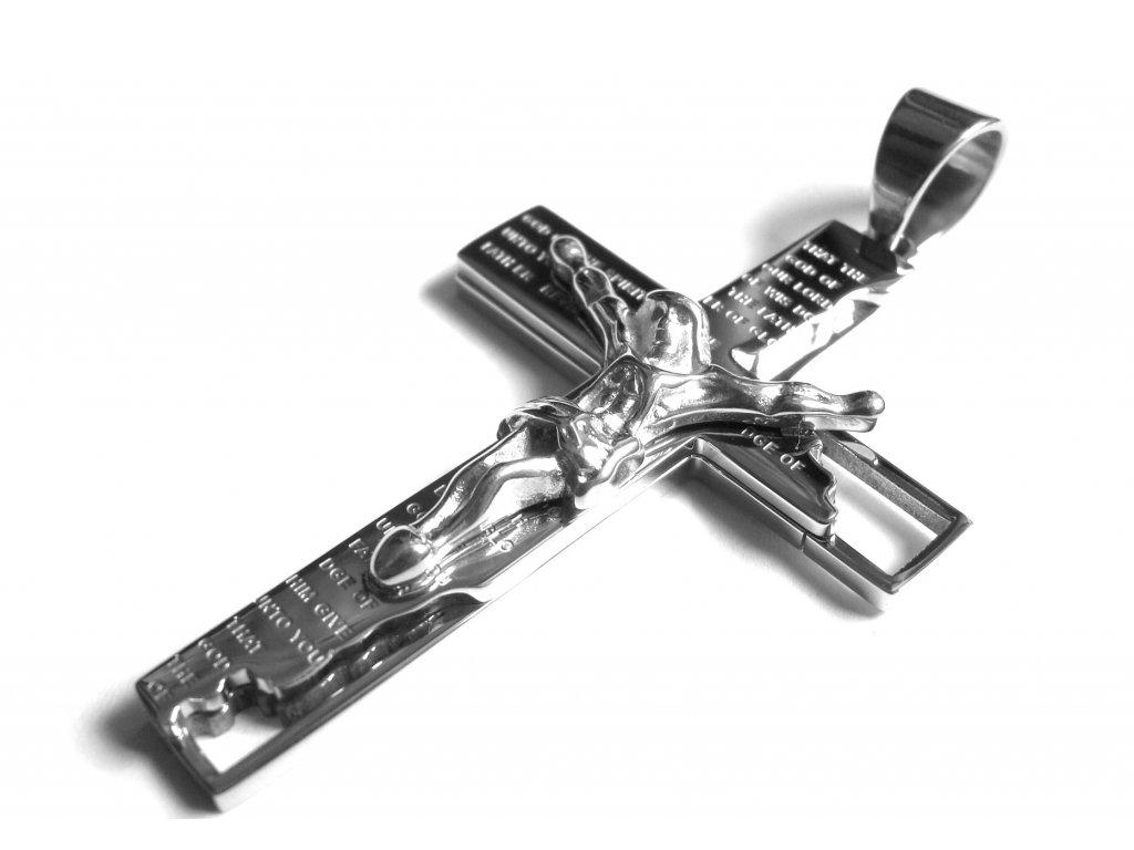 přívěsek - chirurgická ocel - kříž - 150326