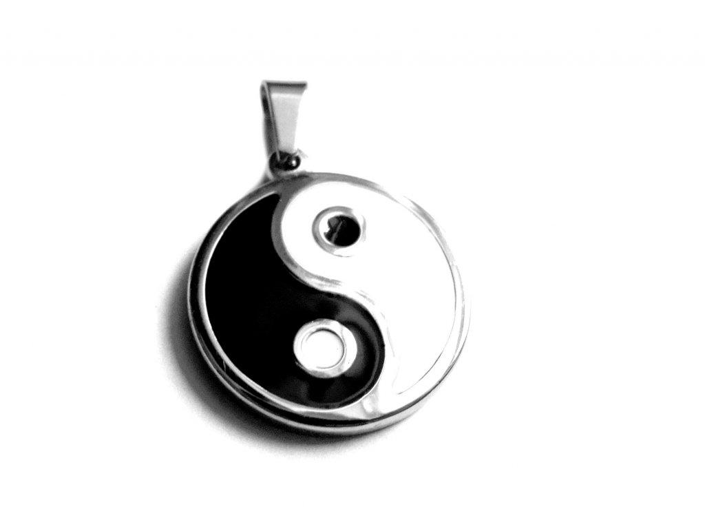 přívěsek - chirurgická ocel - jing jang - 160106