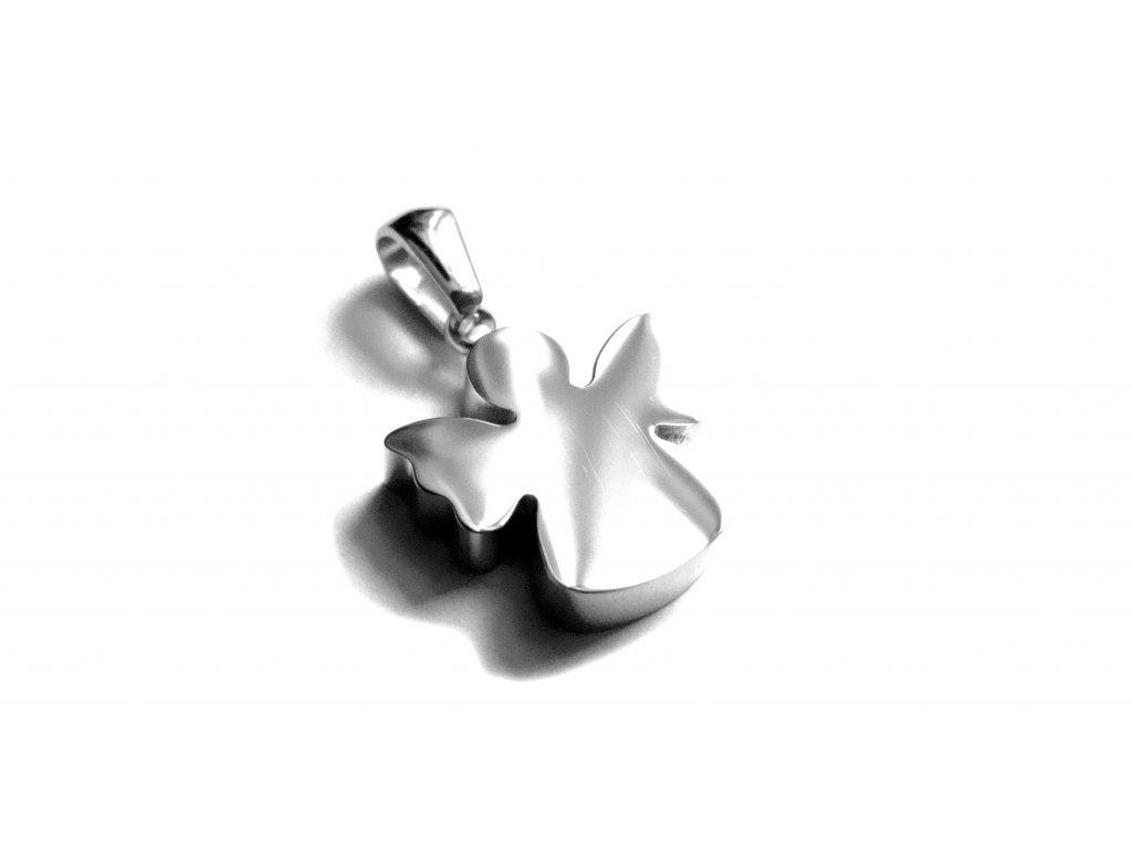 přívěsek - chirurgická ocel - anděl - 150412