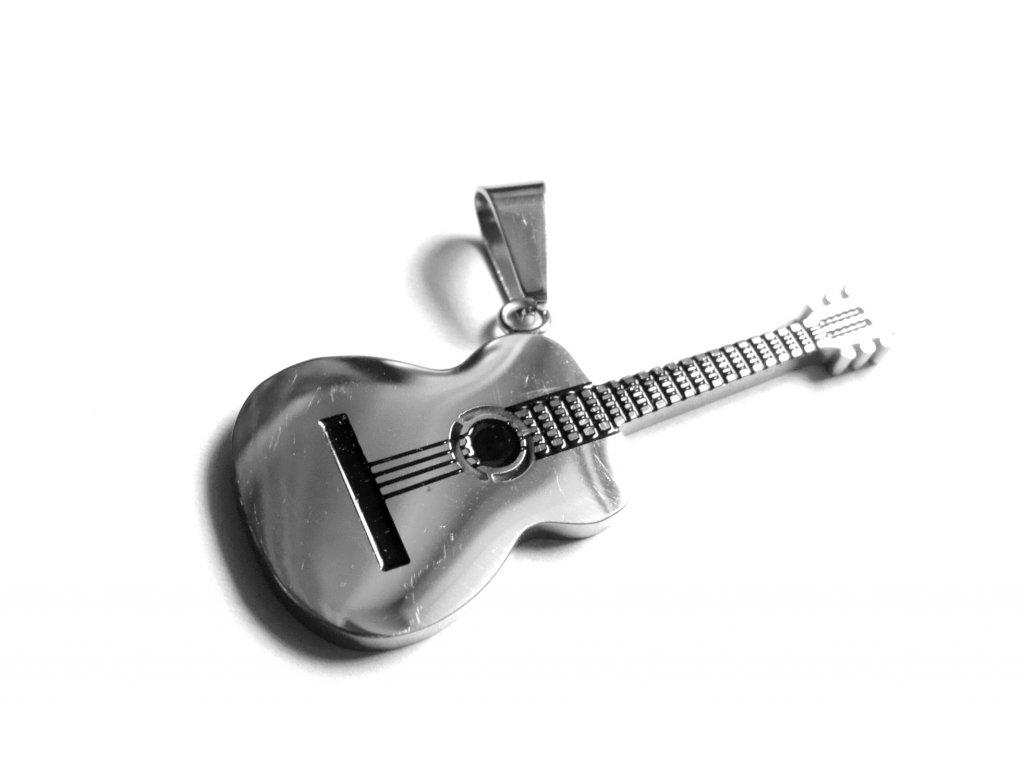 přívěsek - chirurgická ocel - kytara - 171020