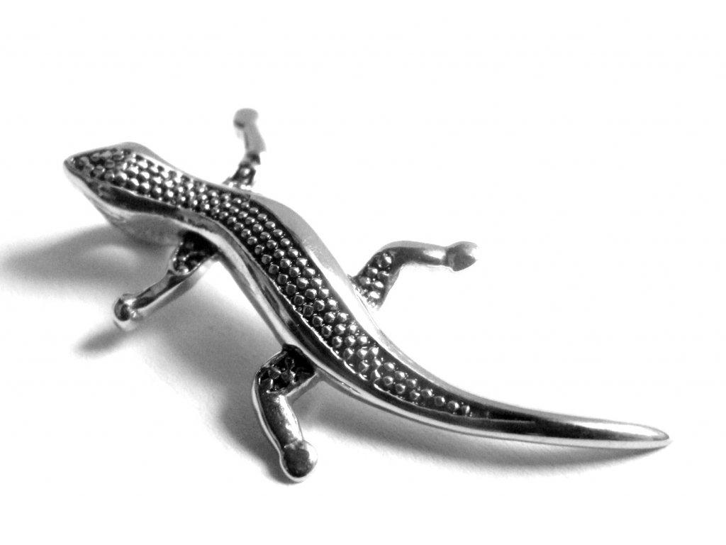 přívěsek - chirurgická ocel - ještěrka - 151002