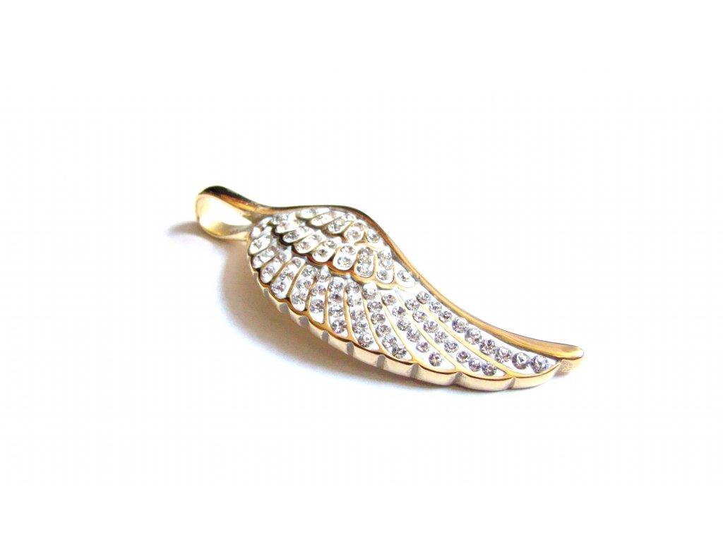 přívěsek - chirurgická ocel - andělské křídlo - 171107