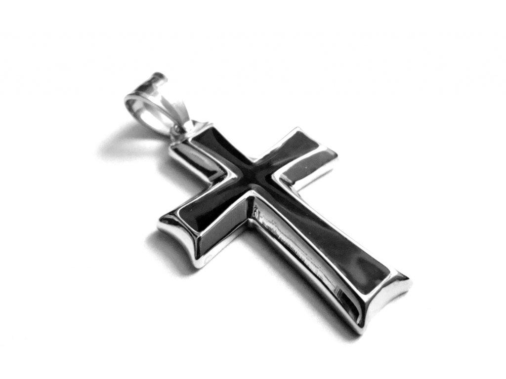 přívěsek - chirurgická ocel - kříž - 141020