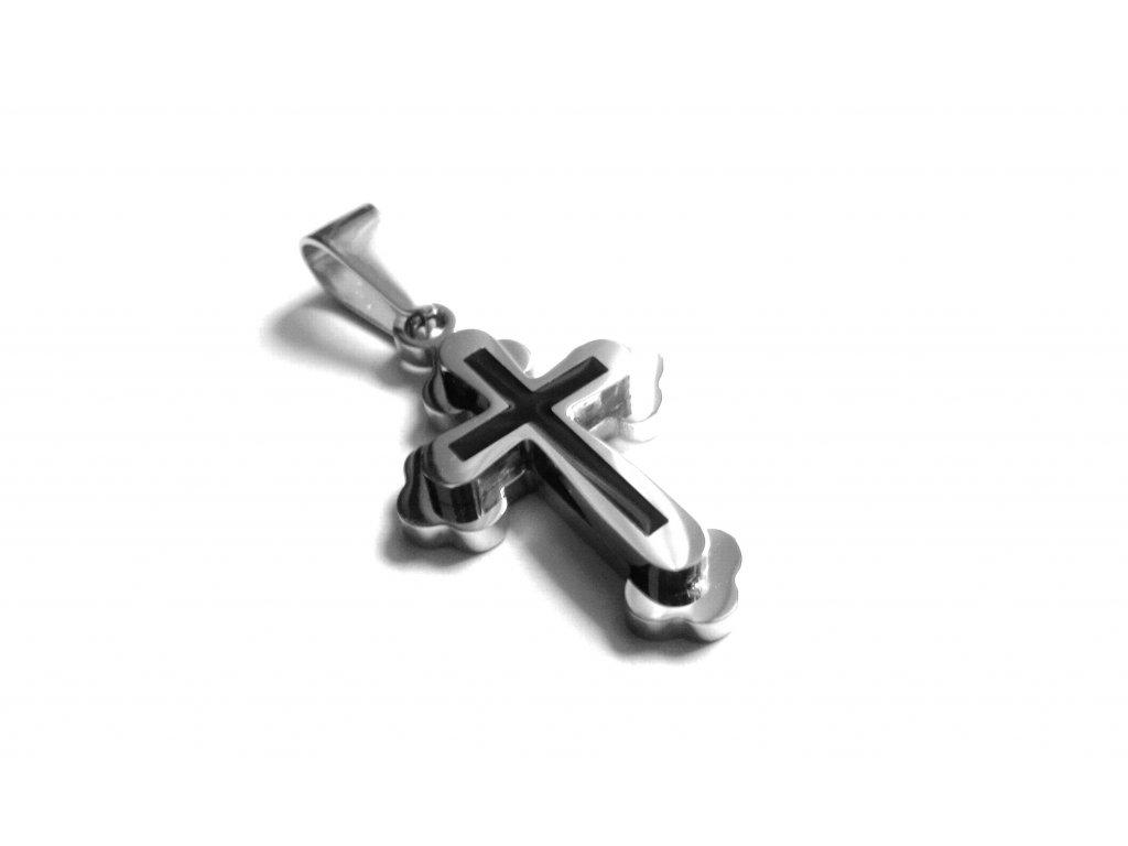 přívěsek - chirurgická ocel - křížek - 151007