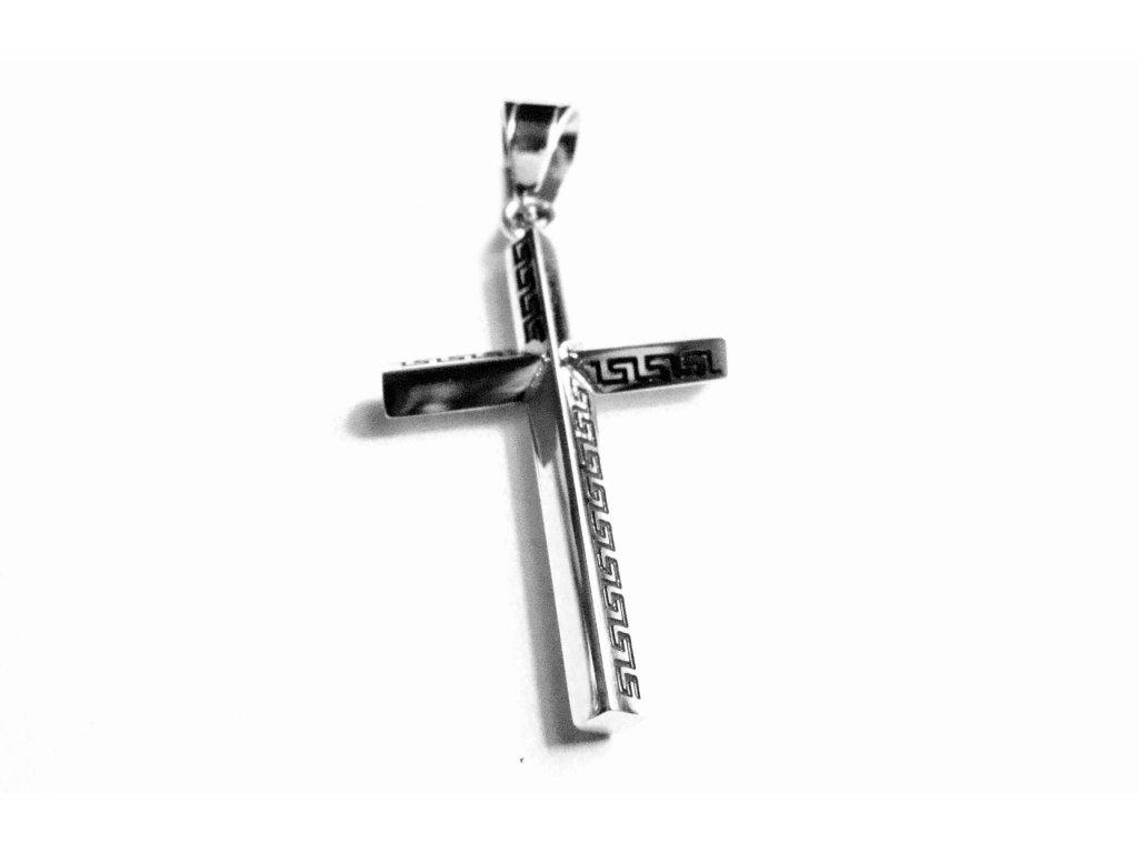 přívěsek - chirurgická ocel - křížek - 171009