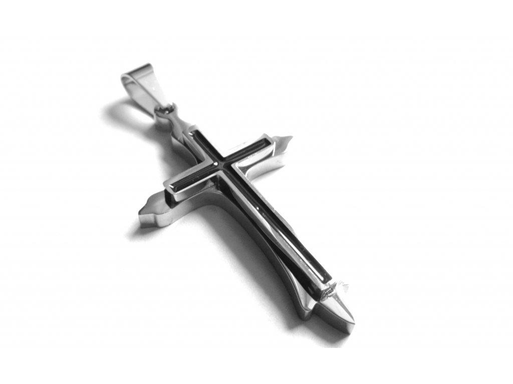 přívěsek - chirurgiclá ocel - kříž - 121112
