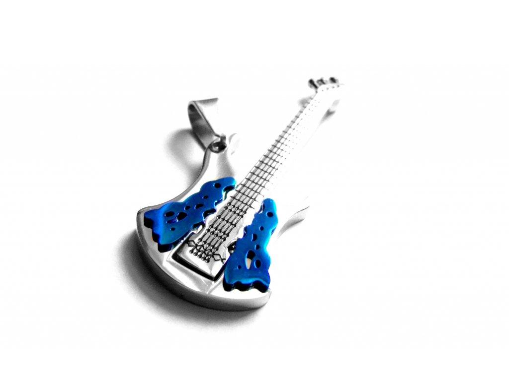 přívěsek - chirurgická ocel - kytara - 500438