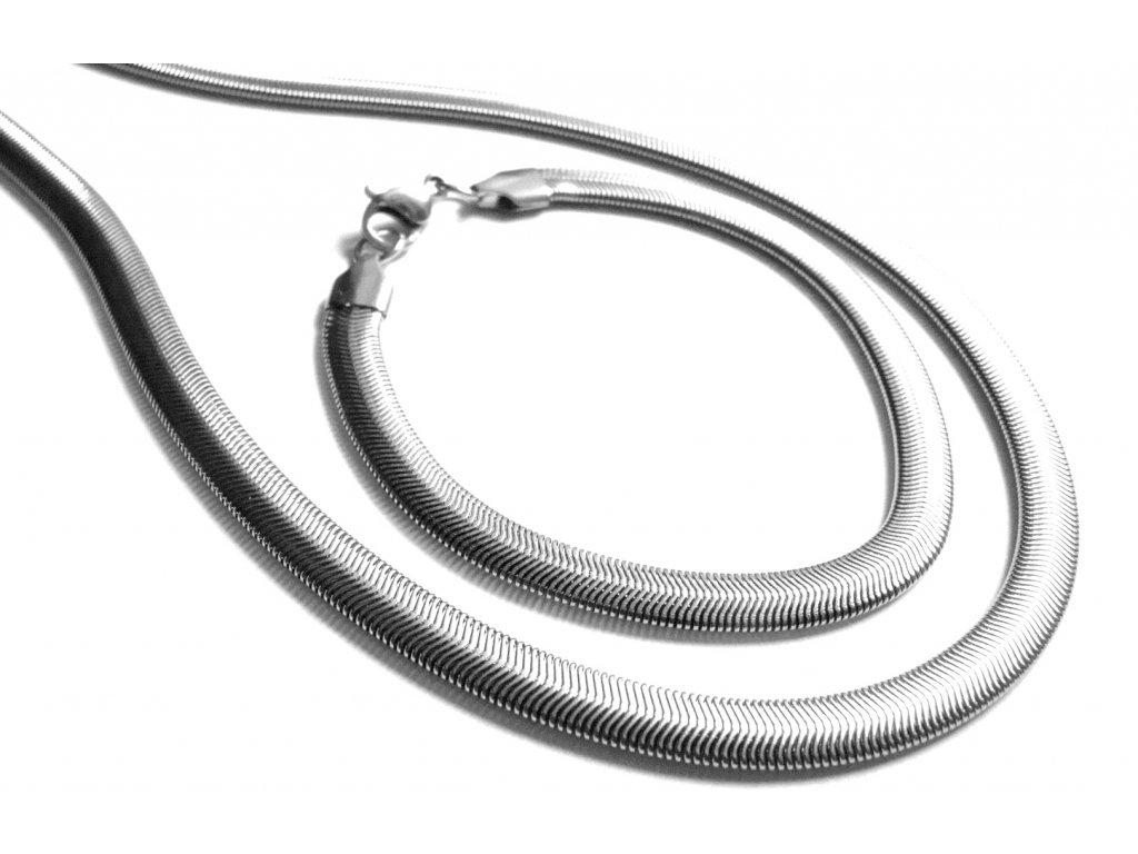 souprava - řetízek (náhrdelník) a náramek - chirurgická ocel - 171002