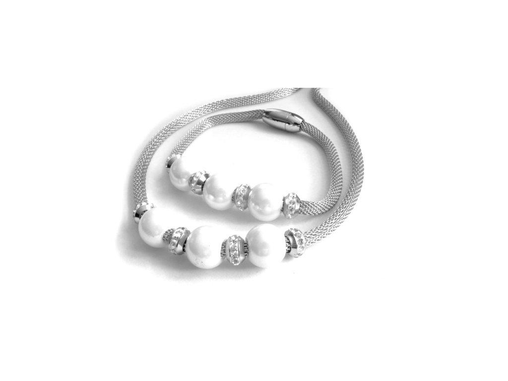 souprava - náhrdelník a náramek - chirurgická ocel - 080360