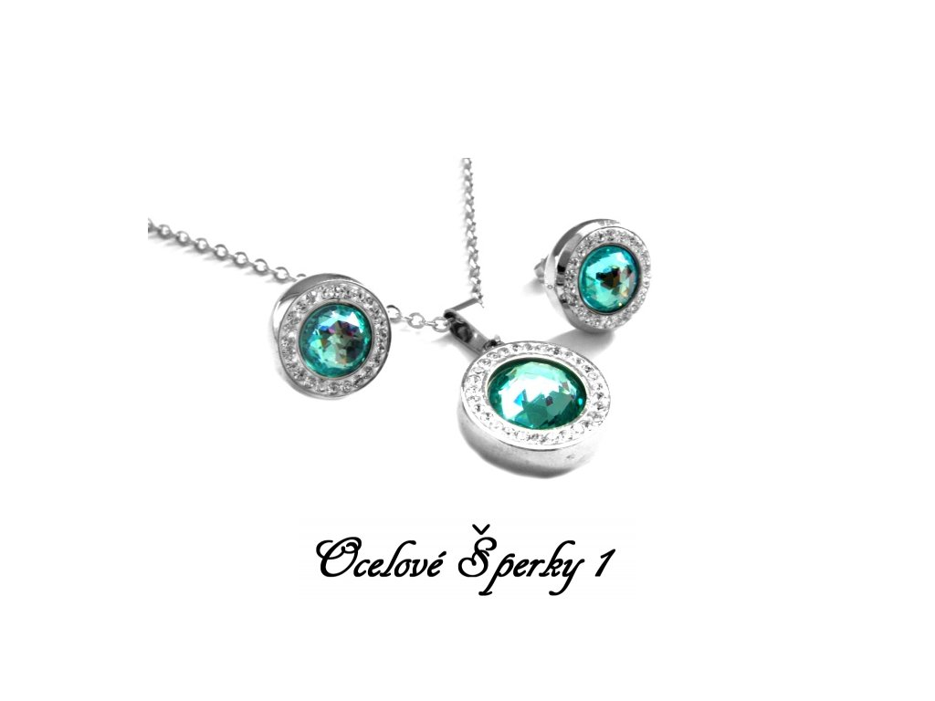 souprava - náhrdelník a náušnice - chirurgická ocel - 080351