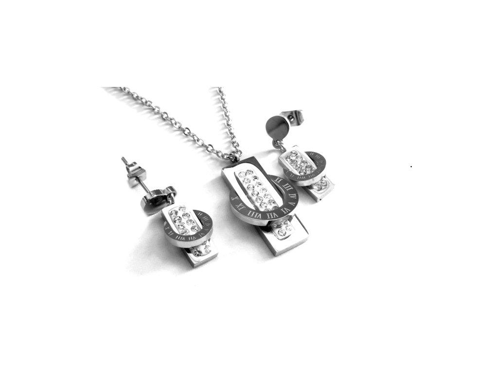 souprava - náhrdellník a náušnice - chirurgická ocel - 090284