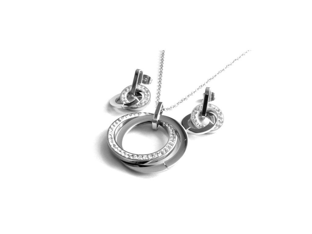 ouprava - náhrdelník a náušnice - chirurgická ocel - 150209