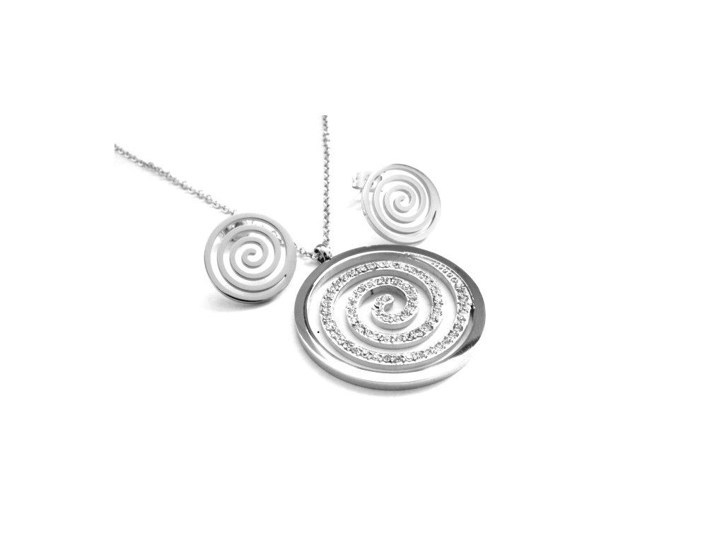 souprava - náhrdelník a náušnice - chirurgická ocel - 500418