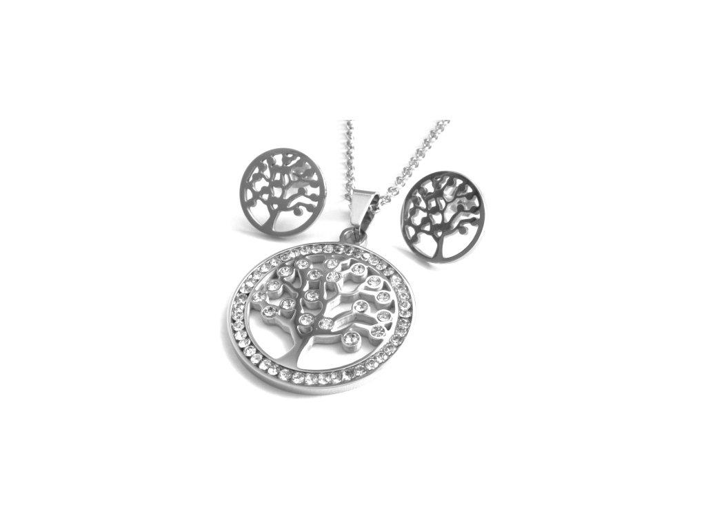 souprava - náhrdelník a náušnice - chirurgická ocel - 141024