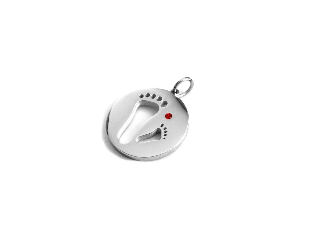 přívěsek - chirurgická ocel - 150219
