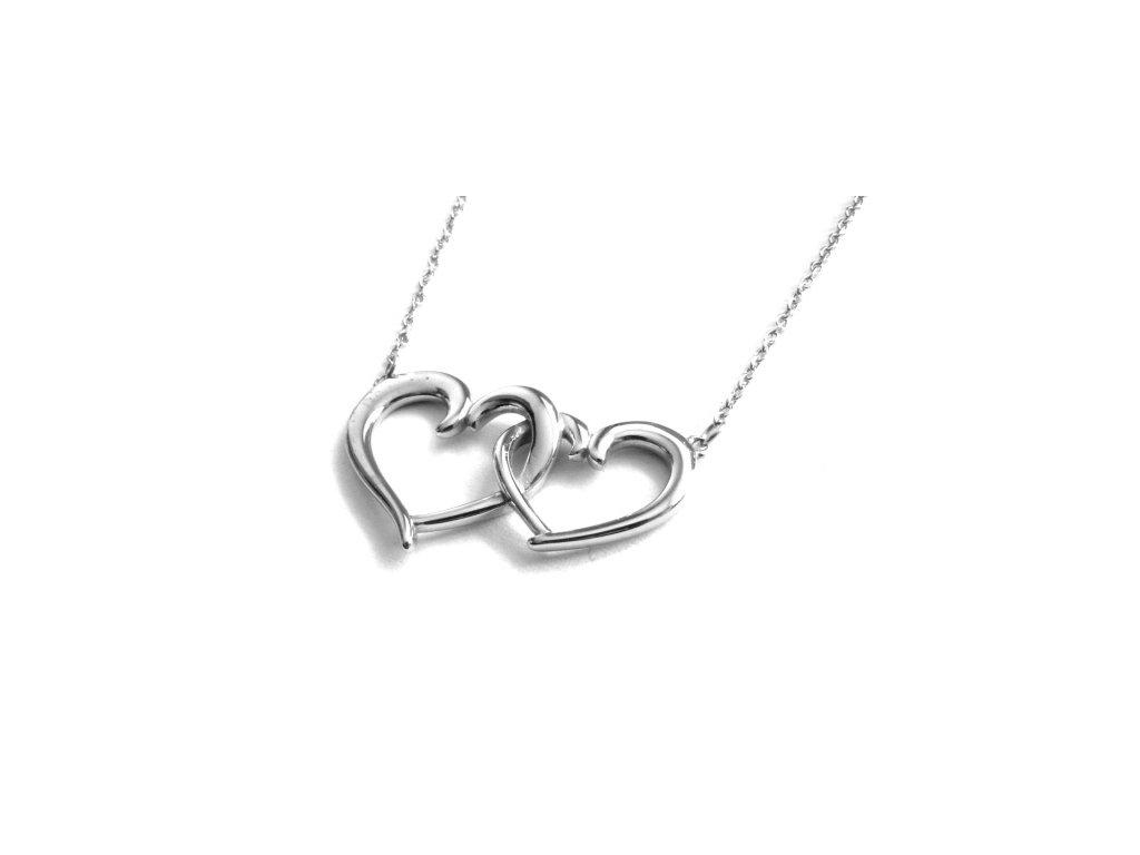náhrdelník - chirurgická ocel - srdce - 090462