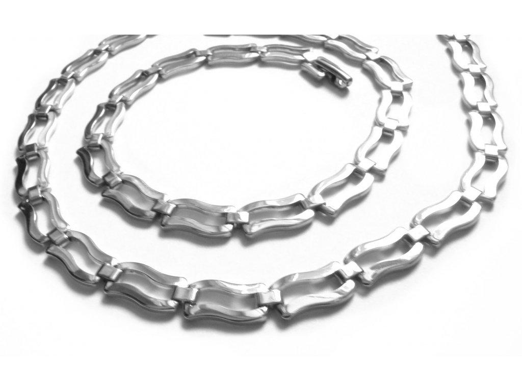 souprava - řetízek (náhrdelník) a náramek - chirurgická ocel - jemný - 140905