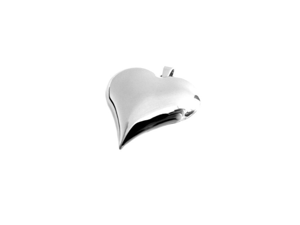 přívěsek - chirurgická ocel - srdce - dámský - 160218