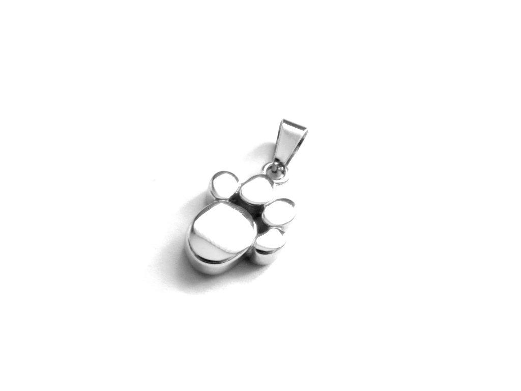 přívěsek - chirurgická ocel - tlapka - 090455