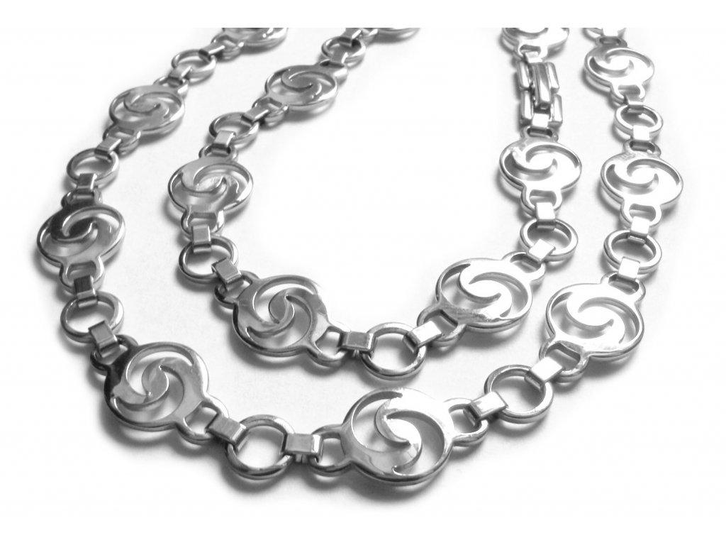 souprava - řetízek (náhrdelník) a náramek - chirurgická ocel - jemný - 140915