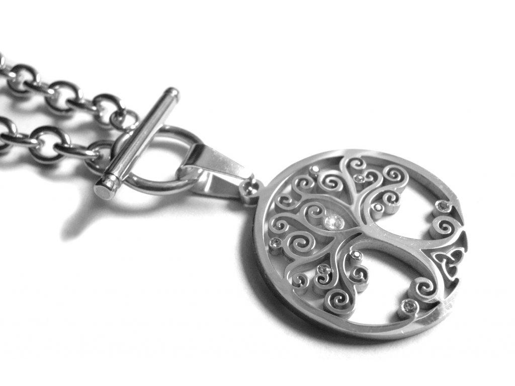 náhrdelník - chirurgická ocel - strom života - 090159