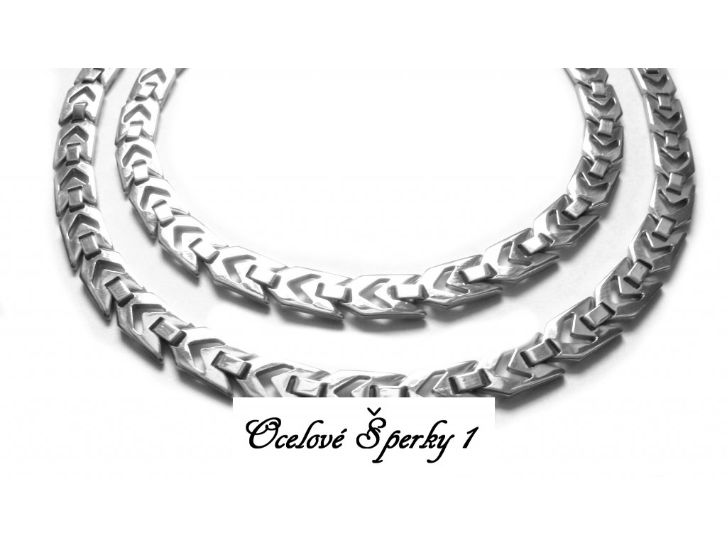 souprava - řetízek (náhrdelník) a náramek - chirurgická ocel - jemný - 140907