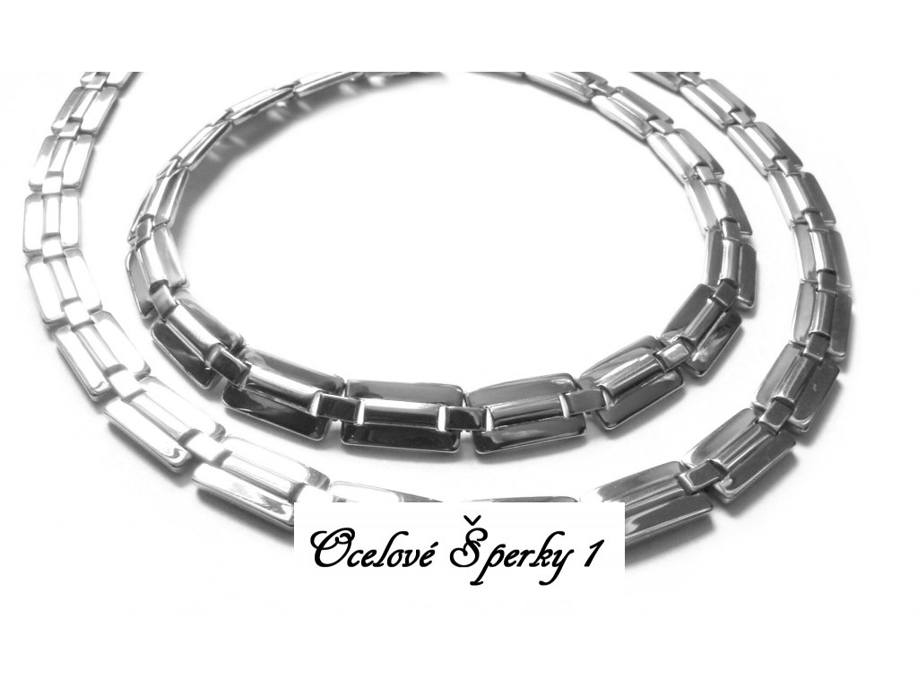 souprava - řetízek (náhrdelník) a náramek - chirurgická ocel - jemný - 140911