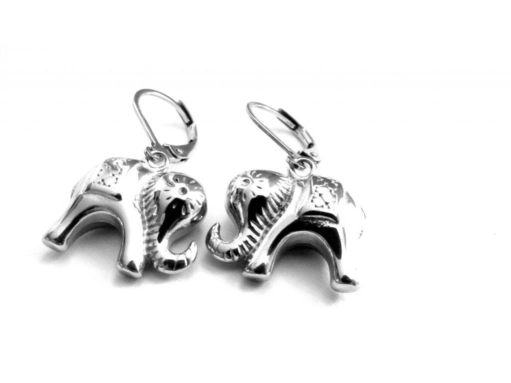 náušnice - chirurgická ocel - sloni - 090186