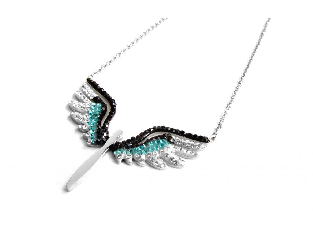 náhrdelník - chirurgická ocel - anděl - 111118
