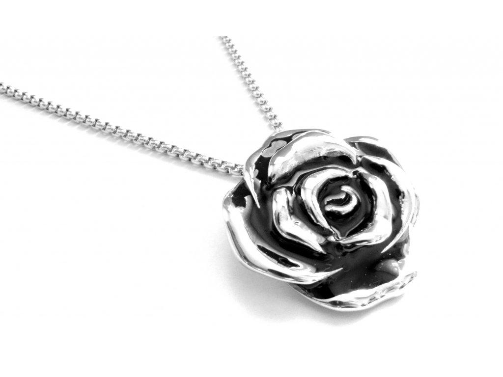 řetízek a přívěsek, náhrdelník - chirurgická ocel - 150315