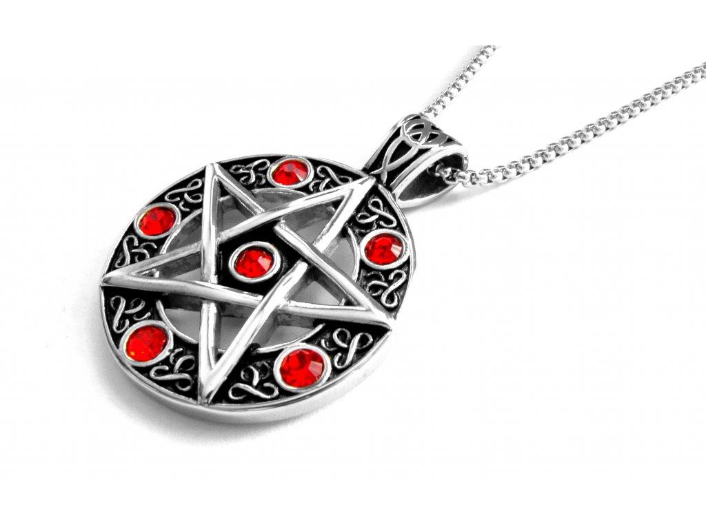 řetízek a přívěsek - náhrdelník - pentagram - 171037